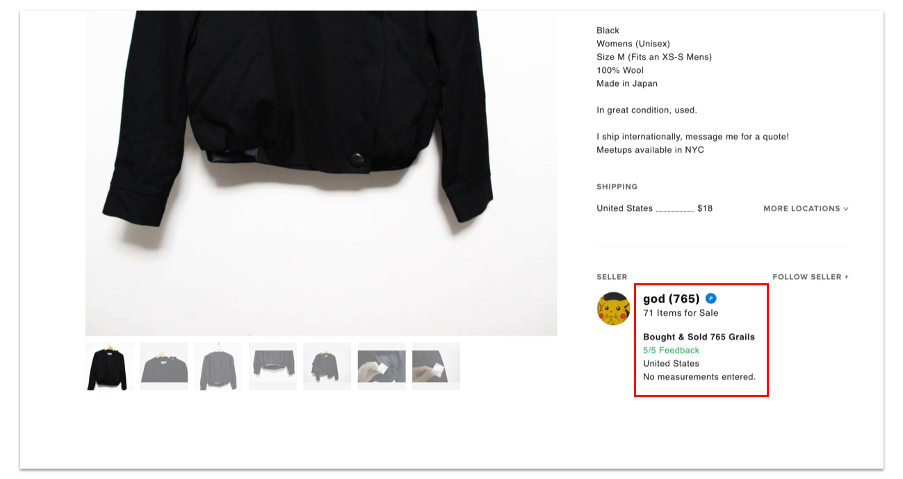 e649bc60a332 How can I buy safely  – Grailed